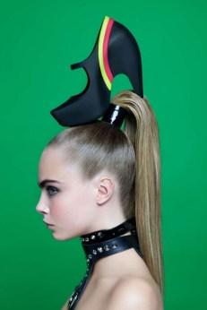 Melissa e Karl Lagerfeld