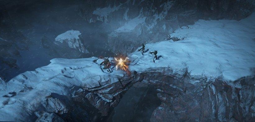 Diablo IV - barbarian vs skeletons