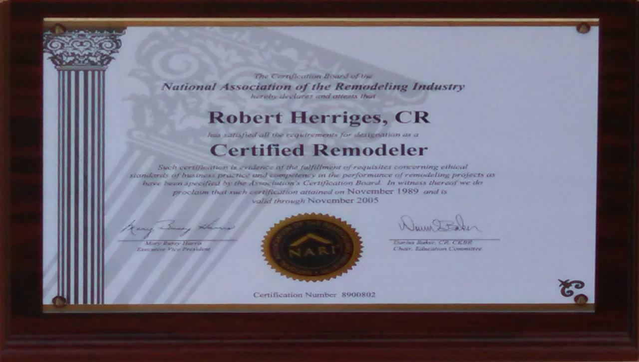 Bob Certified Remodeler