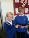 Holly and Max practising their upcoming script...