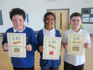 Respect, Friendship and Excellence Award winners 6L