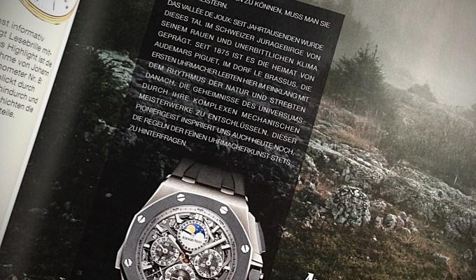 Je teurer die Uhr, desto preiswerter die Texte.