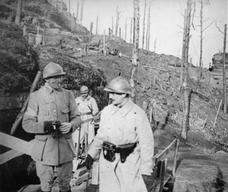 Am Col de la Chapellote. Stereoskopische Aufnahme der Französischen Armee, gemeinfrei.