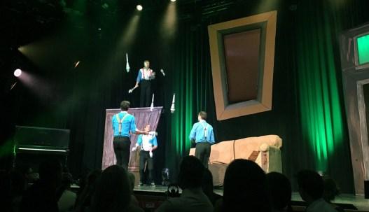 Das Quatuor Stoma begeisterte mit Jonglieren und Akrobatik. ©HerrundFrauBayer