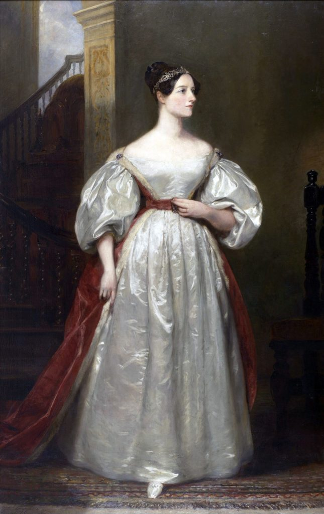 Photo of Margaret's portrait of Ada Lovelace