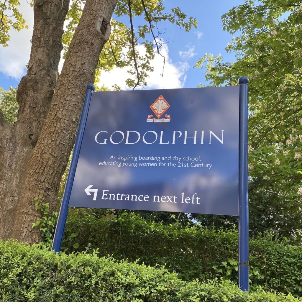 picture of the current Godolphin School sign