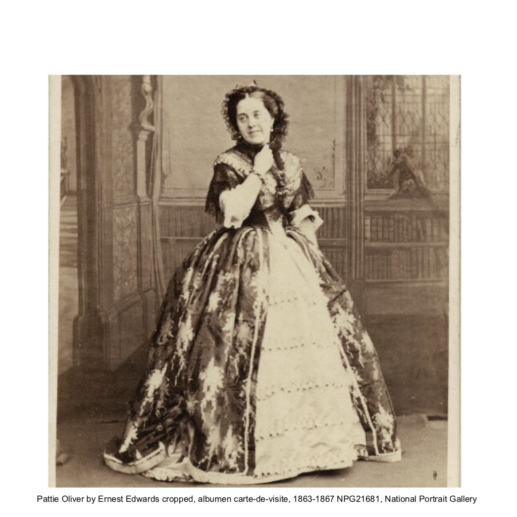 Pattie Oliver on Stage by Ernest Edwards 1863 - 67 National Portrait Gallery