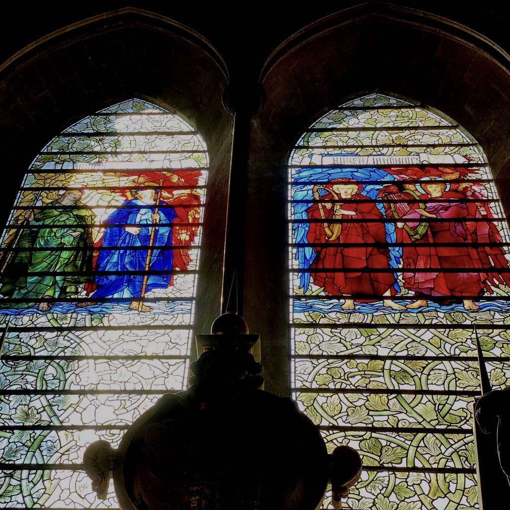 The Townsend Memorial Window designed by Burne Jones and executed by William Morris
