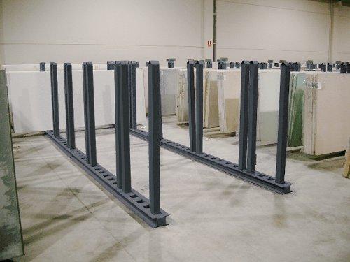 barras horizontales para almacenar y clasificar marmol y grnaito