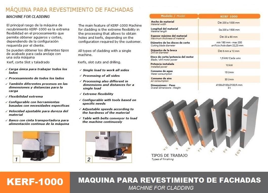 Máquina para revestimiento de fachadas KERF-1000-2