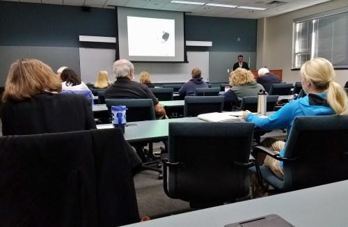 John teaching in Johnson City