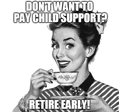 child support retirement