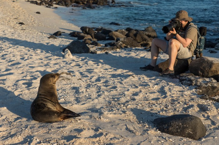 Taking Pictures in the Galapagos Islands