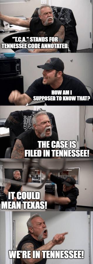 Tennessee notice