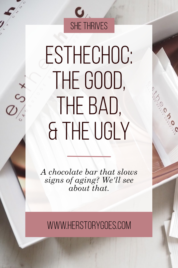 Esthechoc: The Good, the Bad, and the Ugly — Her Story Goes. // Scientists claim this chocolate bar improves the look of your skin and slows signs of aging. But is it too good to be true?