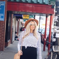 Stripes + The Perfect Straw Hat for Summer
