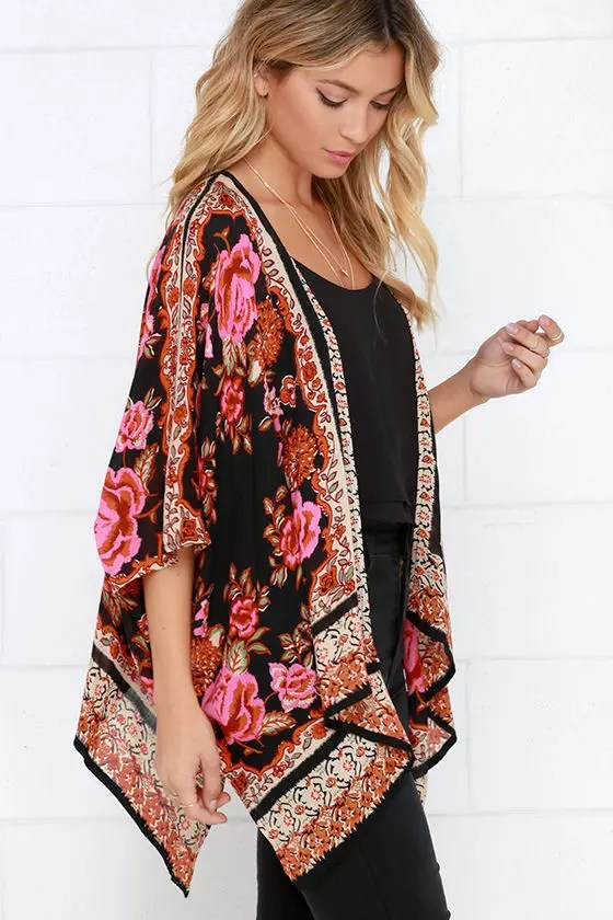 Her Track Spring Fashion Kimono