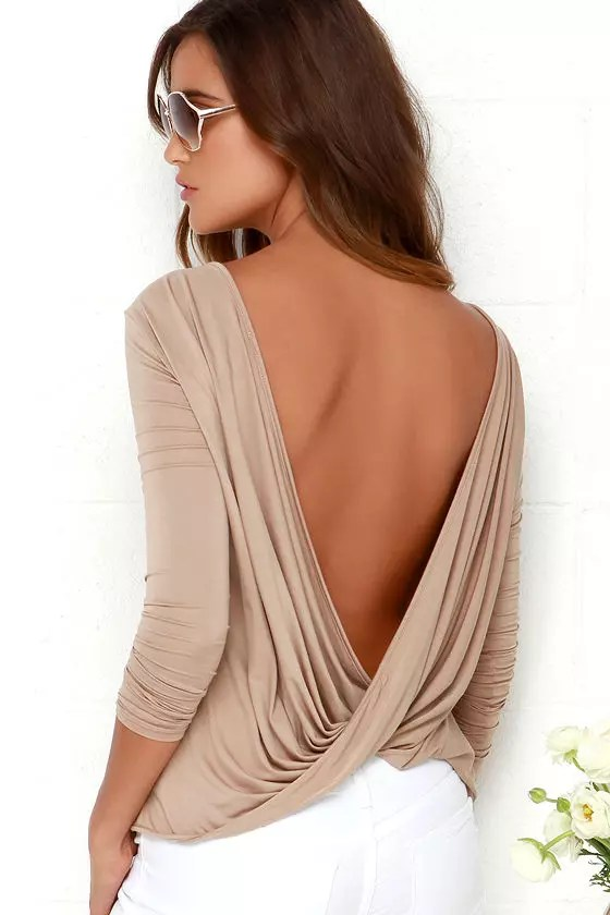 her track spring fashion backless