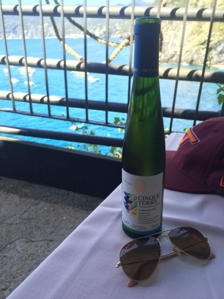 Local Vernazza wine with a view
