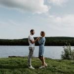 Une séance engagement au Lac des Vieilles Forges |Héloïse & Jordan