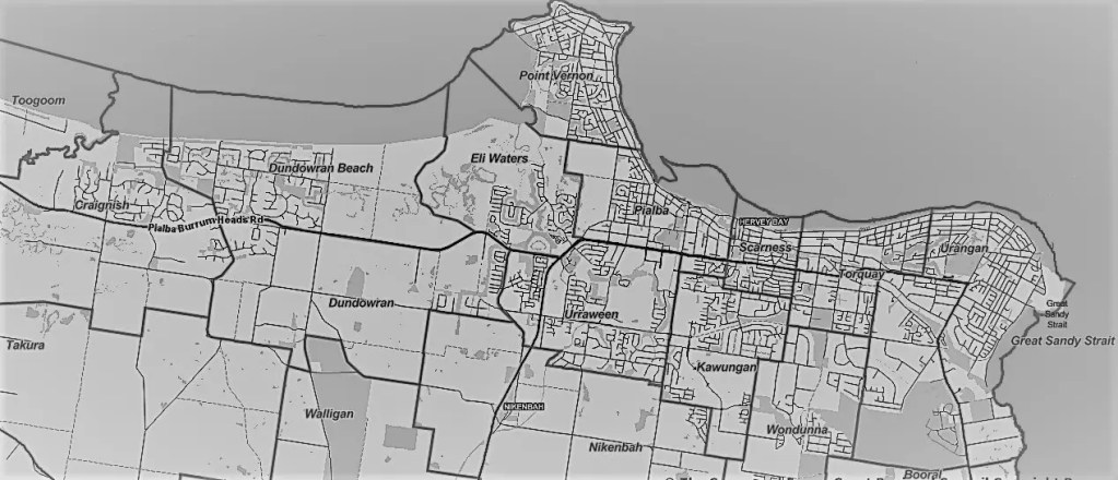 Hervey Bay Suburbs & Regional Map