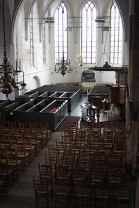 De koorruimte in de St Maartenskerk