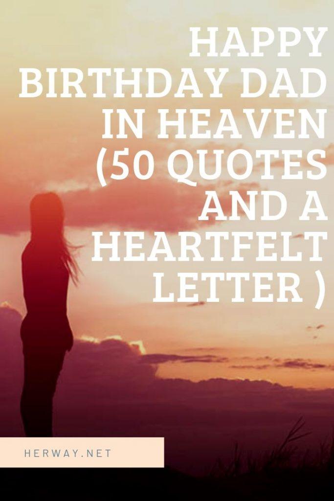 Father Birthday Heaven Happy Quotes
