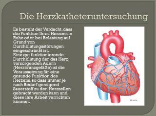 Die Herzkatheteruntersuchung