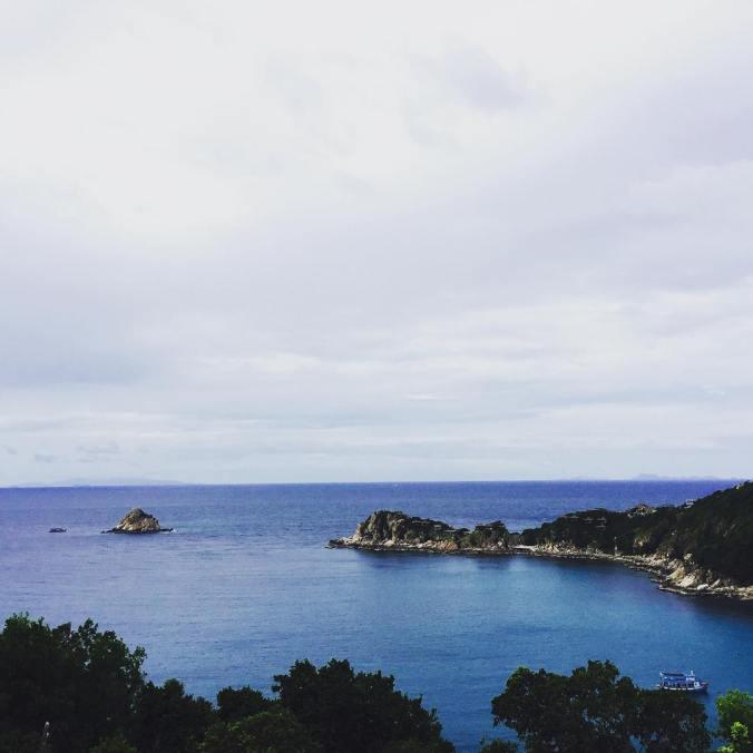 Blick auf die Bucht Aow Leuk