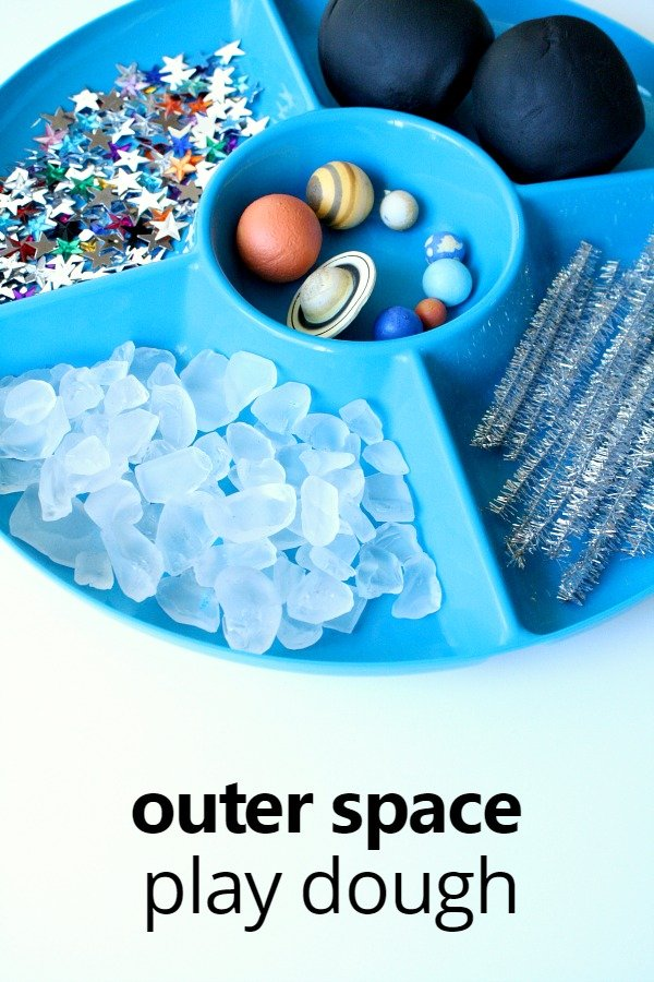 Sensory Play - Outer Space Play Dough