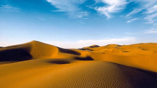 Dünen einer Sandwüste.