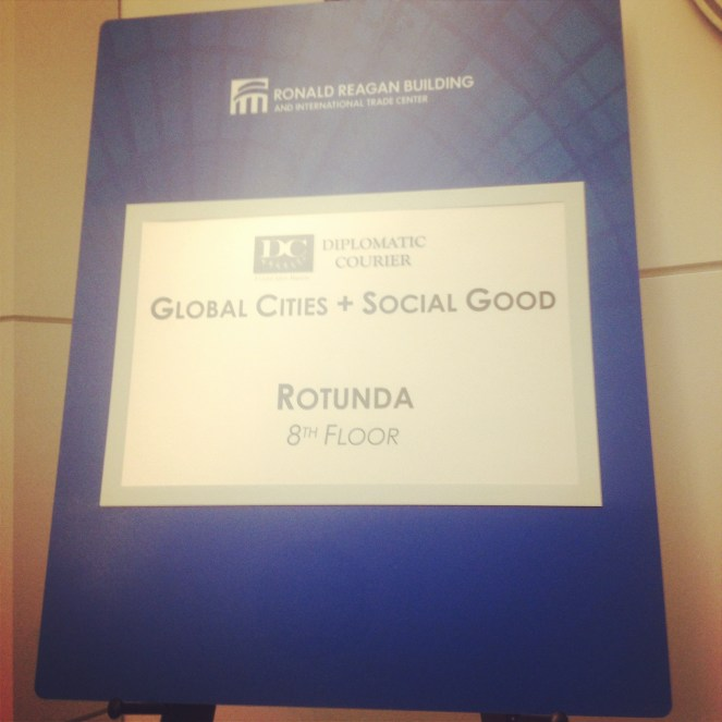 One of the many +SocialGood conferences I had the opportunity to attend, with the Diplomatic Courier & The UN Foundation.