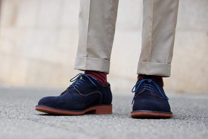 Blue Suede Shoes Johnston & Murphy - He Spoke Style