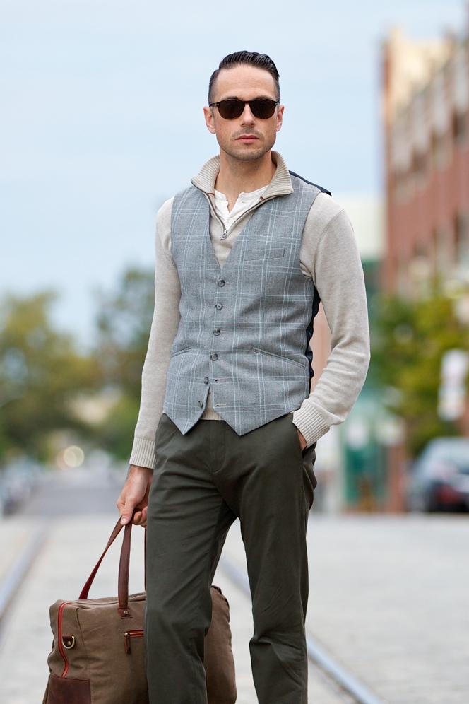 Plaid Three Piece Suit: Waistcoat Separate - He Spoke Style