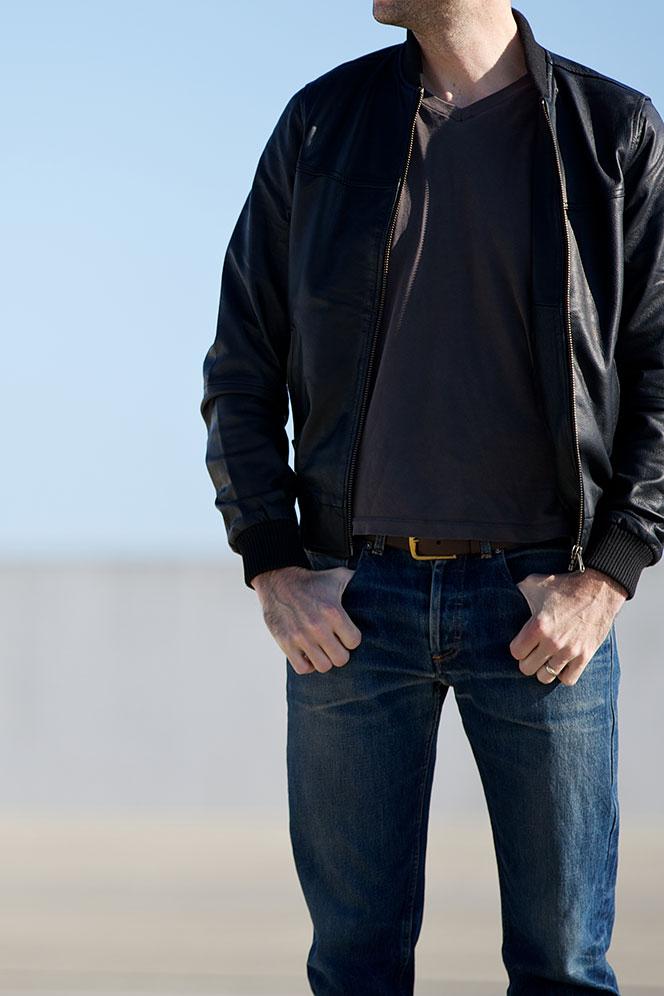 Black Leather Bomber - He Spoke Style