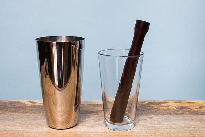 Shaker Time Pint Glass Muddler - He Spoke Style