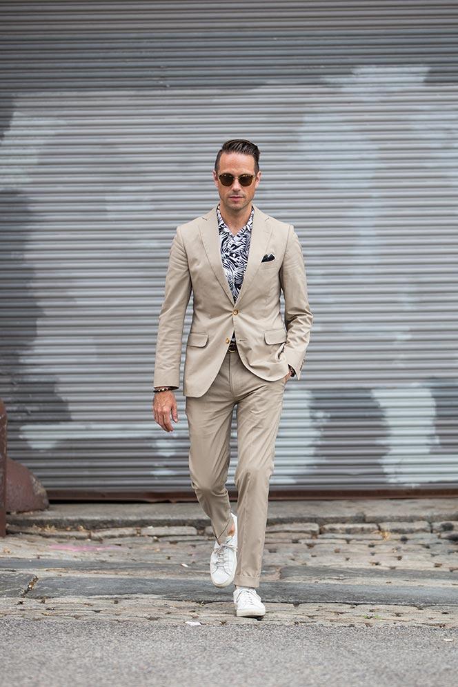Brooks Brothers Khaki Cotton Suit - He Spoke Style