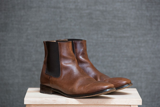 Best Fall Boots for Men Brown Leather Chelsea Boot - He Spoke Style