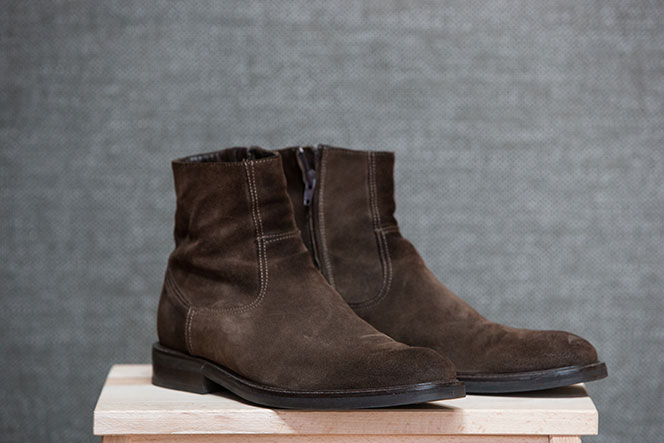 Best Fall Boots for Men Brown Suede Ankle Boot - He Spoke Style