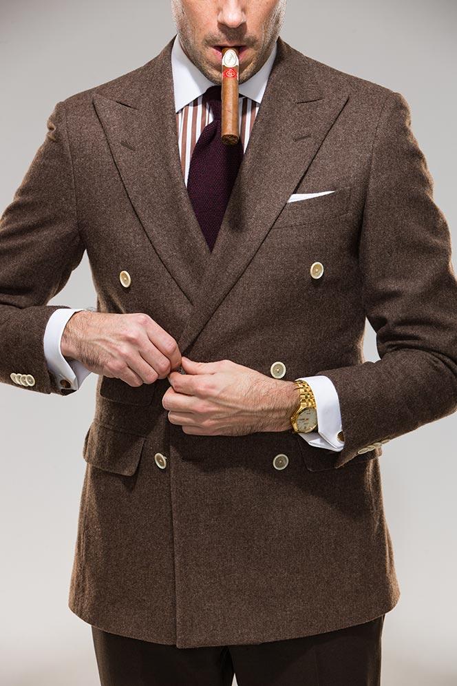 mens double breasted jacket blazer history