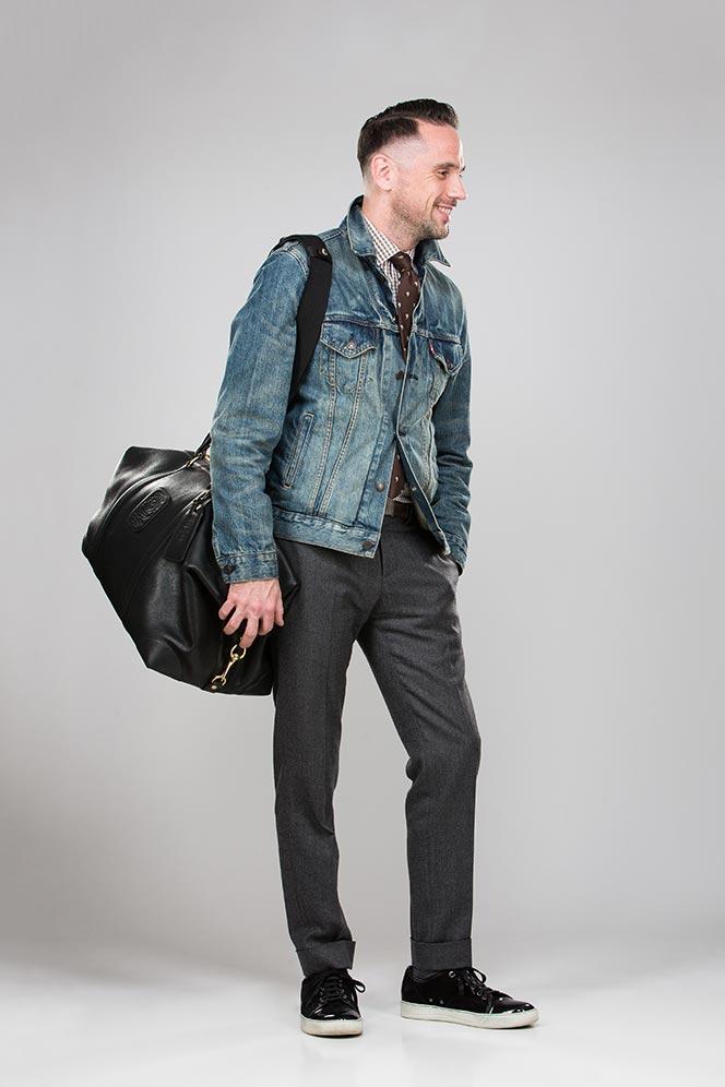 leather duffle bag stylish travel bags men