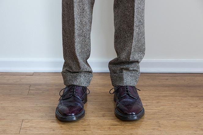proper break in pants pant length full break