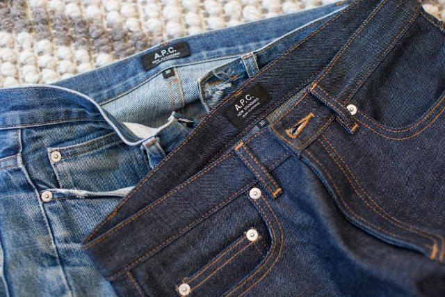 selvedge denim jeans before after