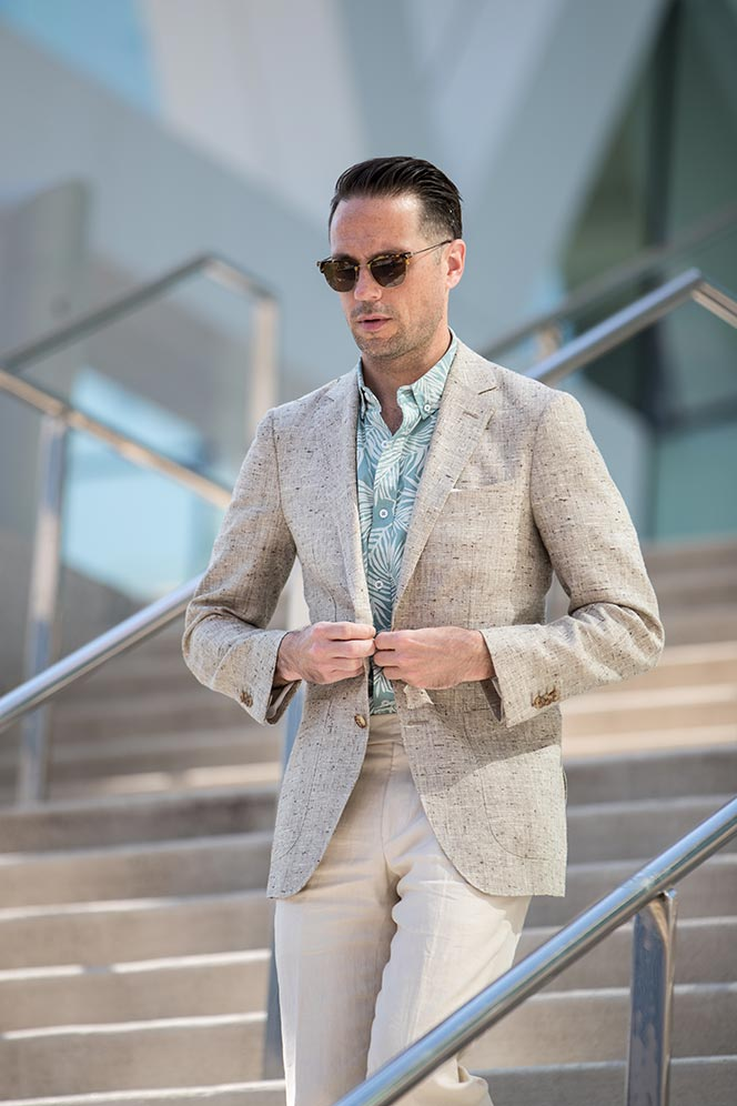 mens patterned shirts with blazer