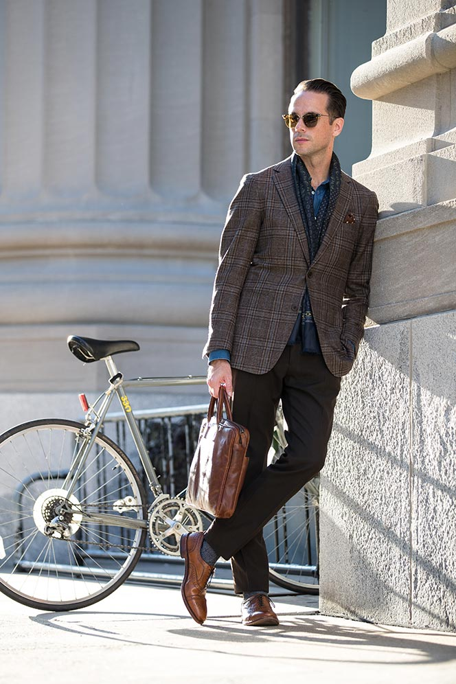 mens silk scarf business casual accessory