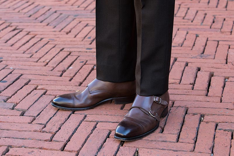dress down brown suit casual