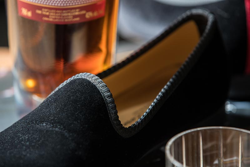 velvet slippers men history