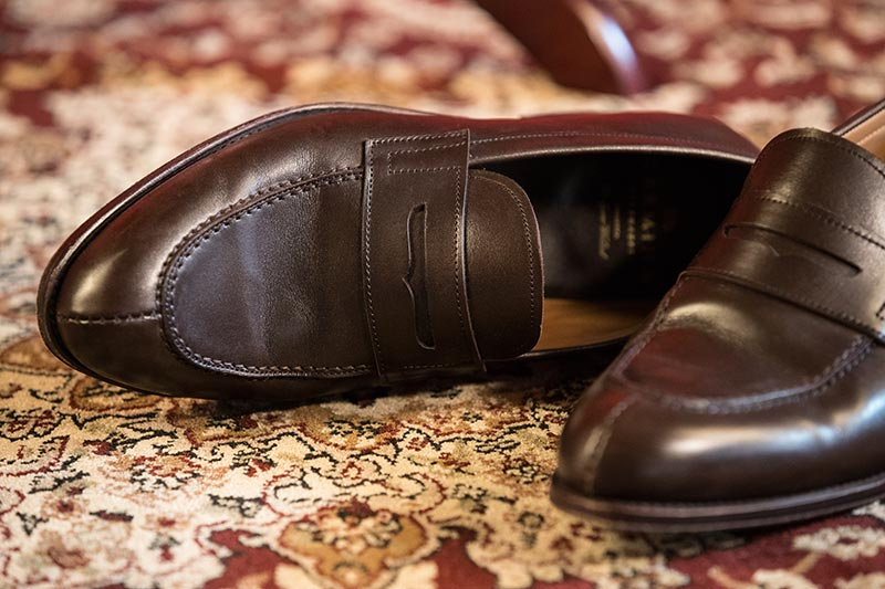 carmina-brown-leather-penny-loafers-one-on-side