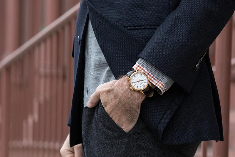 tissot-carson-powermatic-80-watch-gold-brown-leather-strap-with-navy-blazer-classic-mens-outfit-idea-3