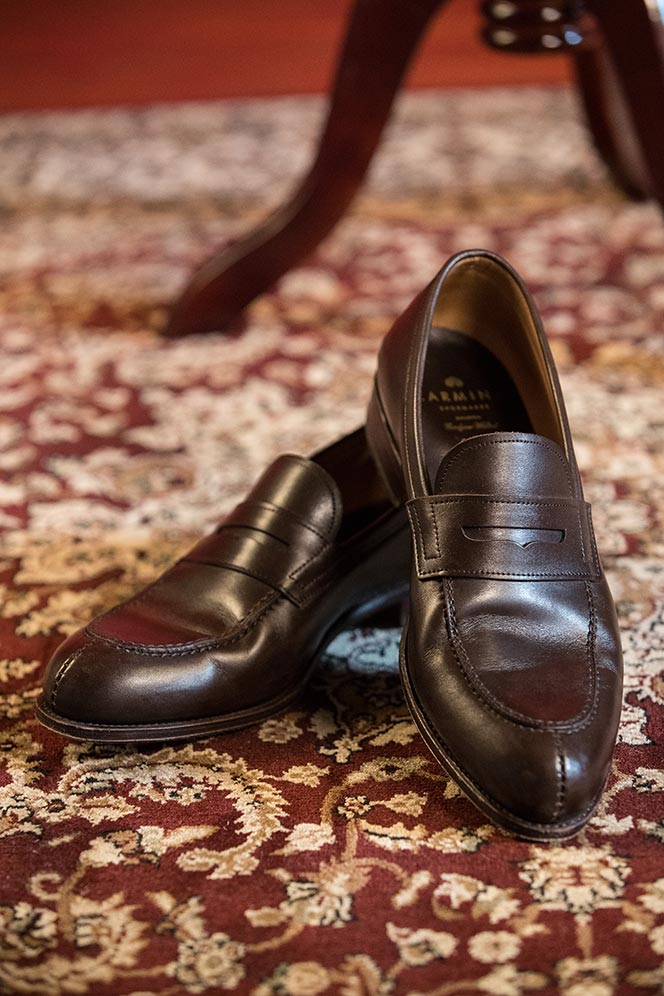 two-carmina-brown-leather-penny-loafers-1